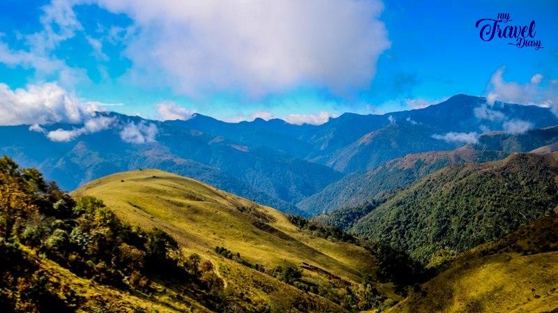 Layers of hills at Mandala Top