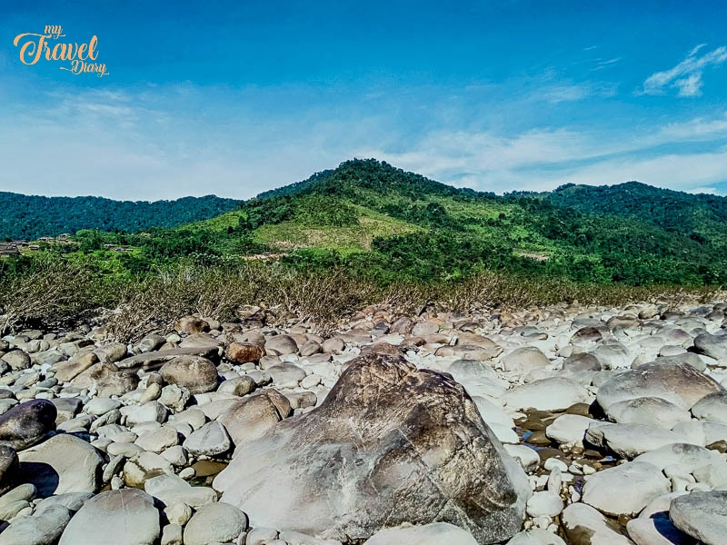 Rocky Terrain on the bank of Siyom River in Aalo_Arunachal Pradesh