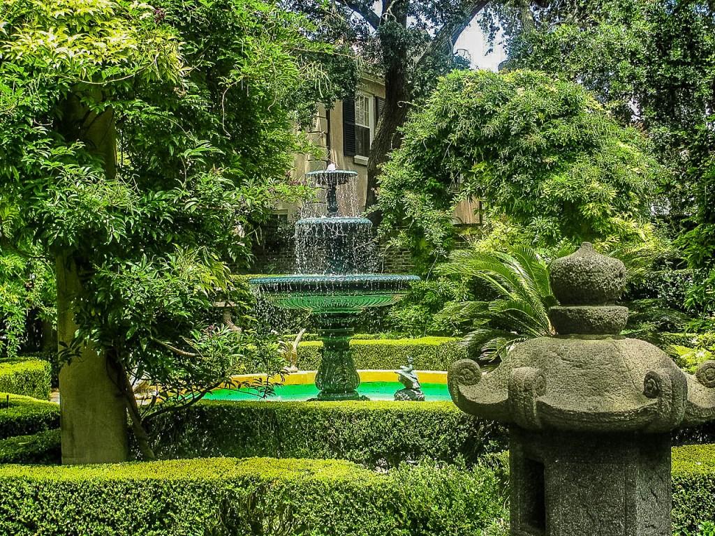 Private residential secret garden in Charleston