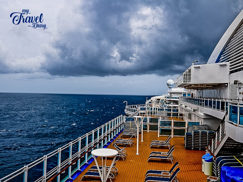 The Changing weather during cruising
