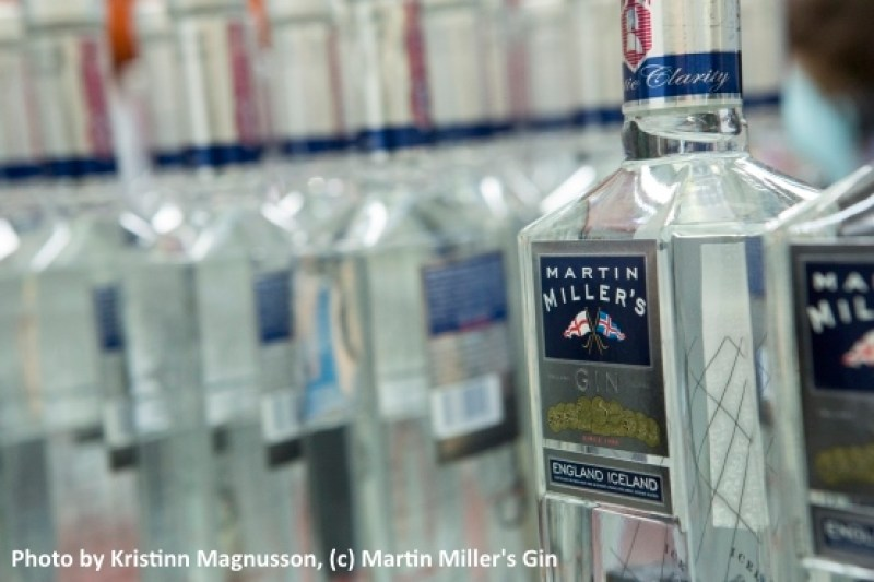 At the Martin Miller's Gin Bottling Plant in Iceland