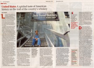 The American Whiskey Trail in The Herald magazine in Scotland