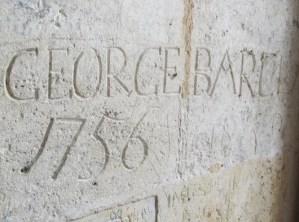 Prisoners' Graffiti on the walls in the Chateau de Cognac in Cognac, France