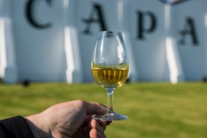 Glass of Scapa Skiren whisky at the Scapa Distillery on Orkney in Scotland