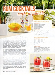 Chilled Volume 9 Issue 4 with my Rum Cocktails with a Punch piece