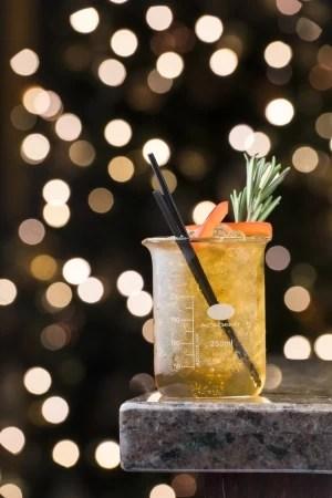 Dark Matter Scottish spiced rum cocktail recipe, Gingering the Derby