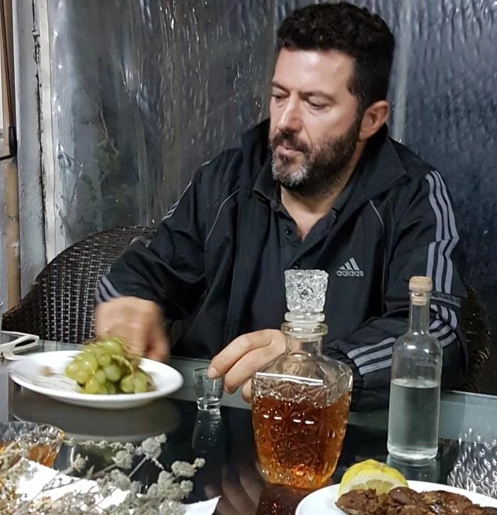 Jorgos Kourmoulis, a maker of rakomelo on Crete