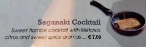 Saganaki Cocktail on the menu at the MoMix Bar Kerameikos in Athens