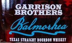 Garrison Brothers Texas Balmorhea Bourbon label