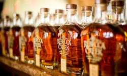 Rebecca Creek Distillery in Texas, whiskey bottles