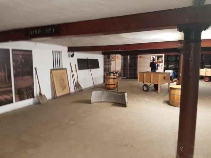 The old maltings room at the Glen Garioch Distillery in Aberdeenshire Scotland 1