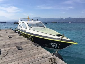 speed boat gili trawangan meno air