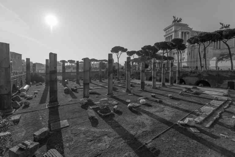 B&W view of the Palatine hill