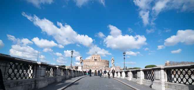 Sky and cloud view over Castel Sant'Angelo