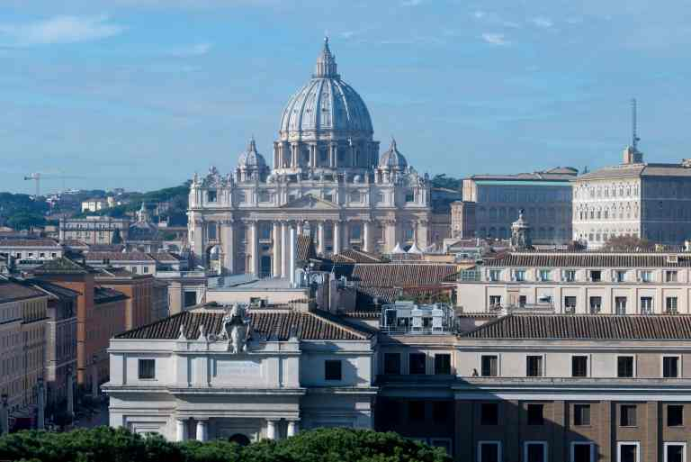 Saint Peter's Rome from Castel Sant Angelo
