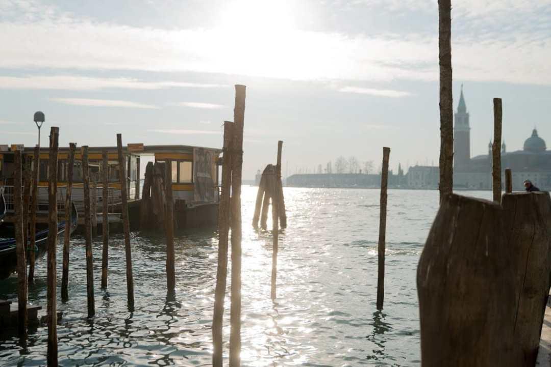 Winter sunrise in Venice Italy