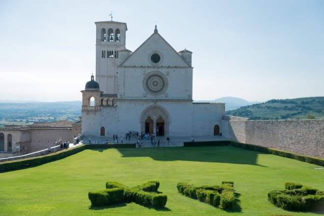 Front of St. Francis in Assisi
