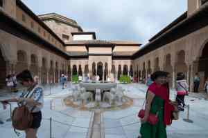 Alhambra Granada Spain fountain