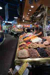 Vibrant colours on a Barcelona market stand