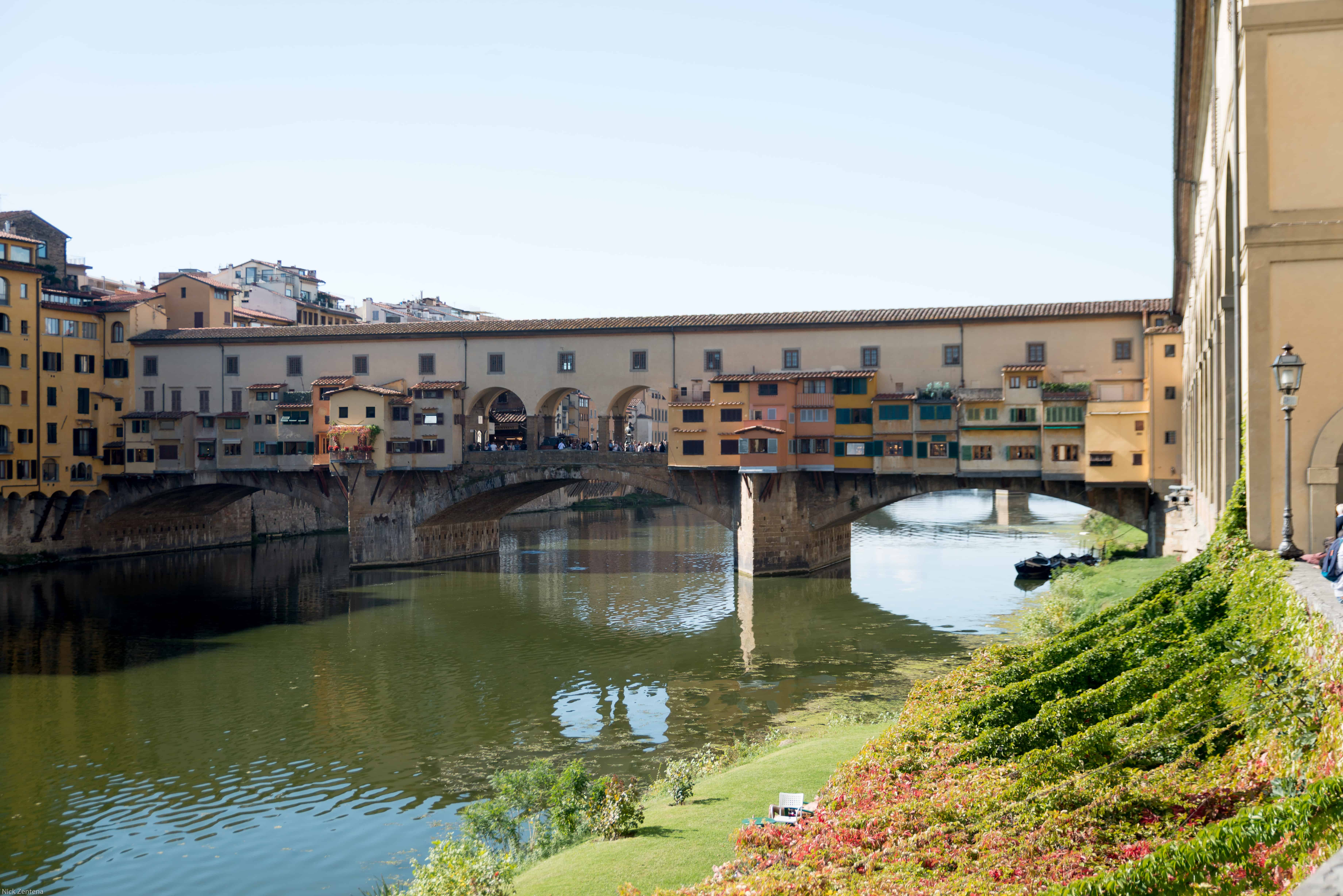 Bridge over the Arno river Florence tuscany Italy