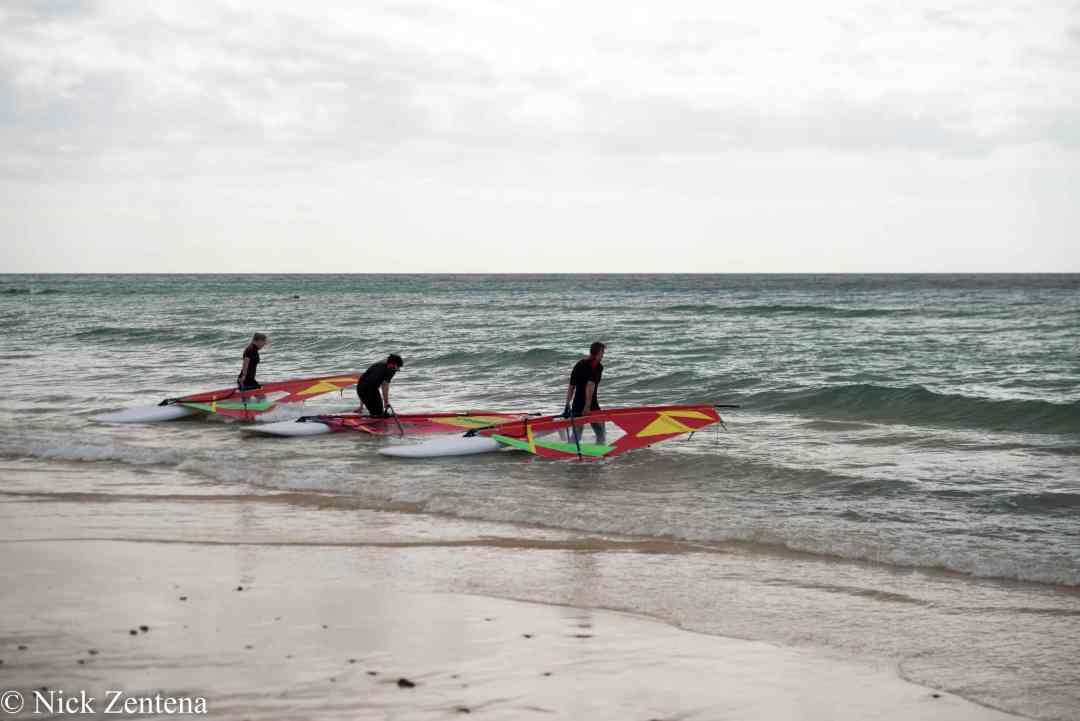 Windsurfers Playa de Carretta Morro Jable