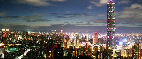 Taipei is a vibrant and exciting city. Just look at its skyline! Photo credit Chris.