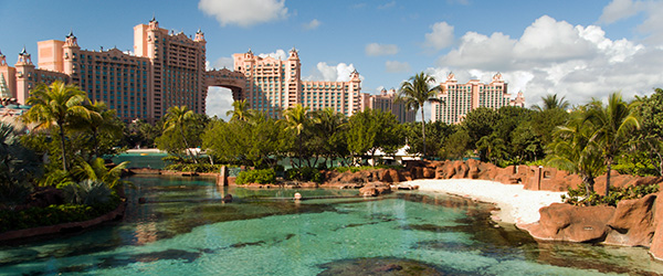 The Atlantis Paradise Island resort in Nassau, Bahamas.