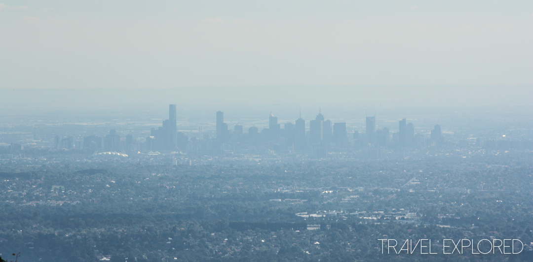 Melbourne - City Skyline from Mount Dandenong