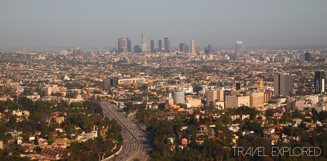 Los Angeles - City Skyline from Mulholland Drive