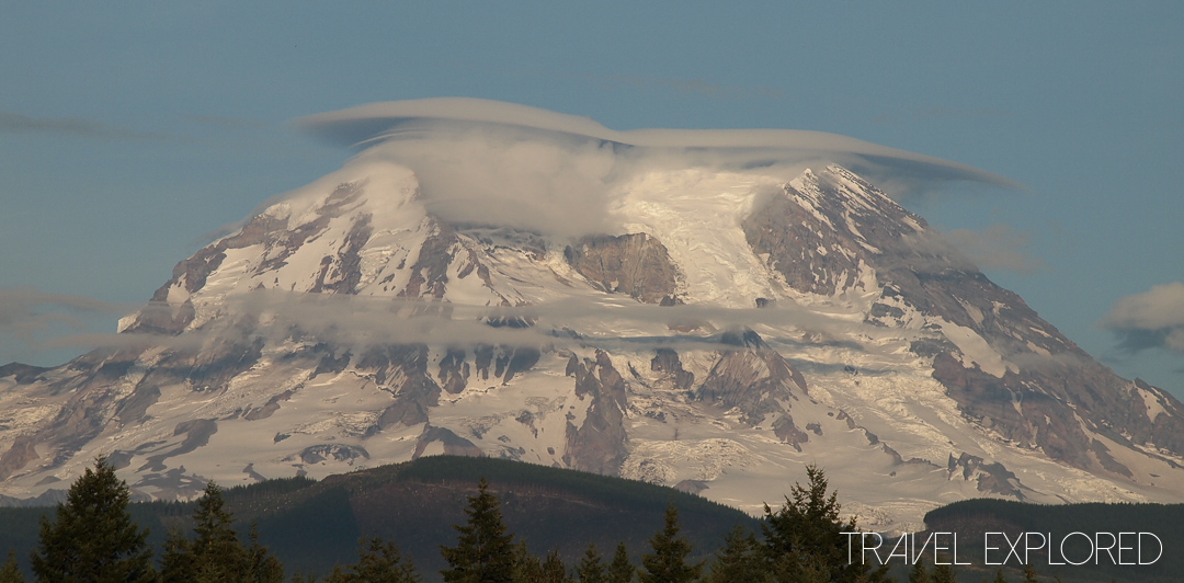 Mt Rainier - Cloud Halo