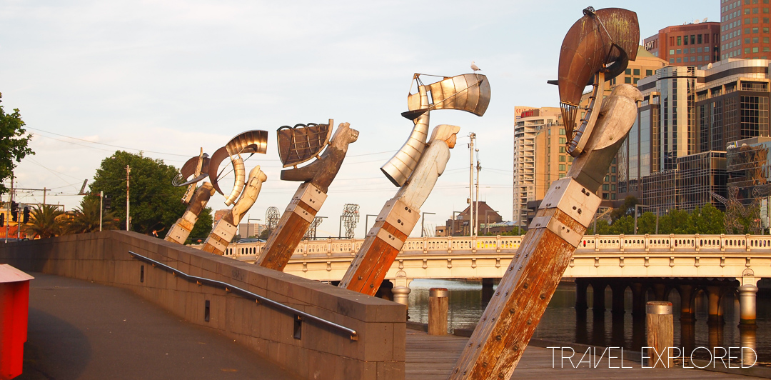 "Melbourne - Yarra River Sculpture ""Constellation"""