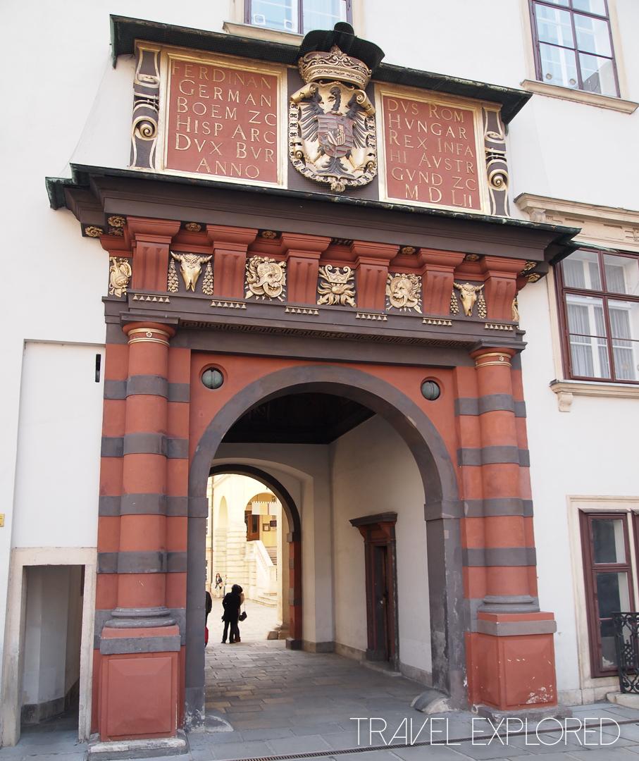 Vienna - Entrance to Treasury Courtyard