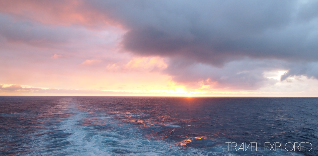Nieuw Amsterdam - Sunset at Sea