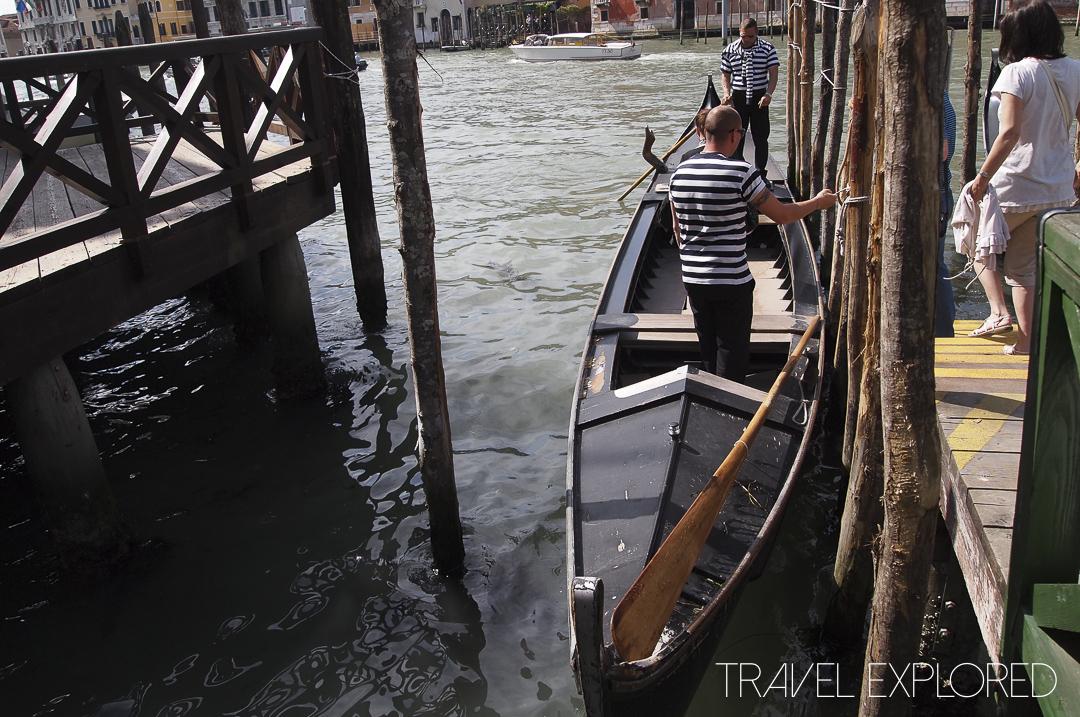 Venice - Gondola canal crossing