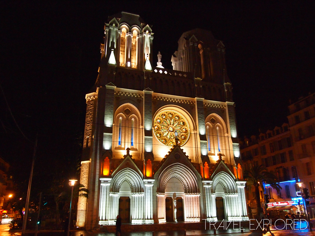 Nice - Notre Dame Cathedral by night