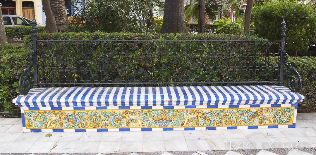 Cadiz - Public Garden Tiled Bench