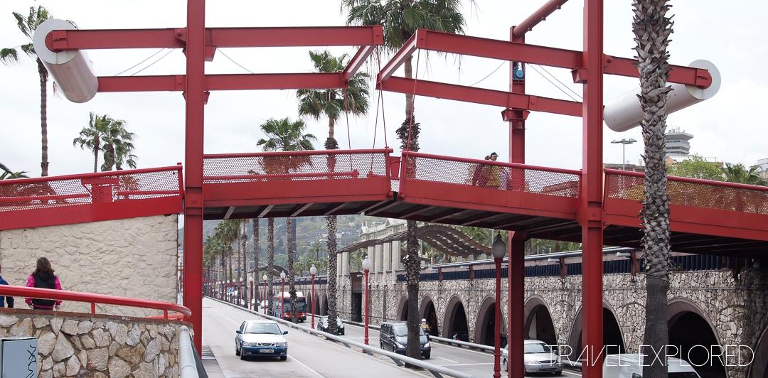 Barcelona - Pedestrian Drawbridge