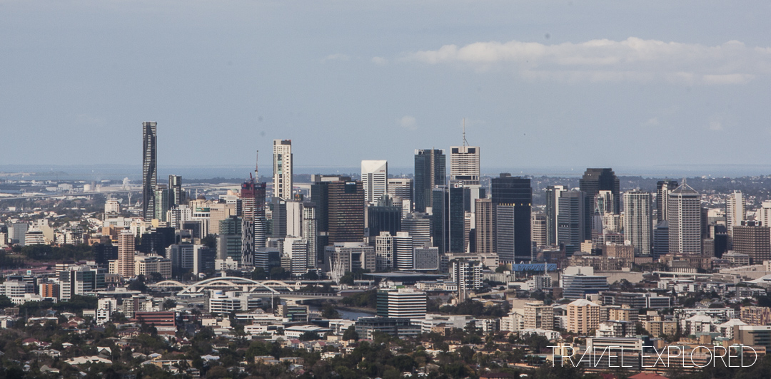 Brisbane city Skyline from Mount Coot-tha