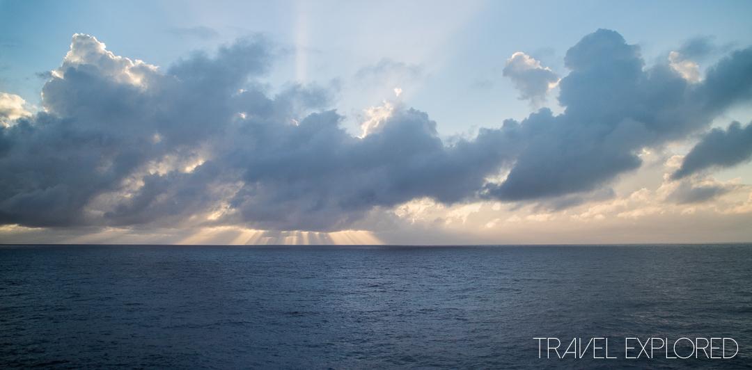 Sun Princess - Sunrise at Sea