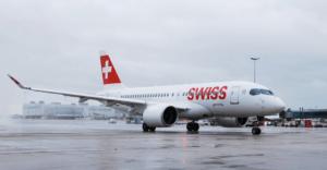 Swiss Bombardier plane