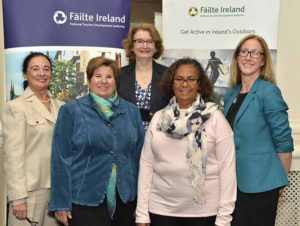 Picture shows Paula O'Carroll ofAshford Castle, Margaret Mangialardi ofHalton Trafalger Travel, Canada, Oonagh Kelly ofFailte Ireland, Kathy E Gooden-Dempsey ofVision Travel, Canada and Suzanne Meade of Meyrick Hotel.
