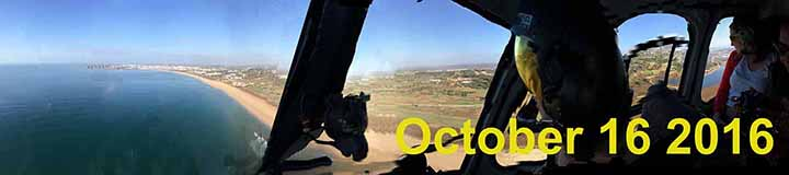 Algarve Tourism hosts international travel writers in a helicopter ride over Portimão, October 14 2016