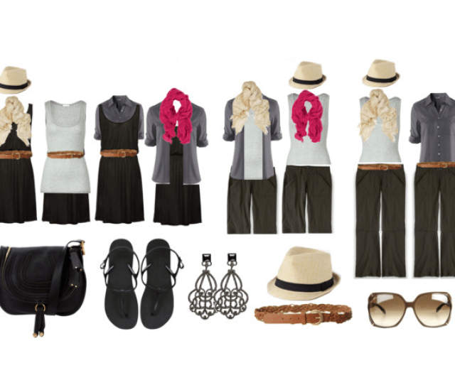 Minimalist Travel Packing How To Mix And Match  Pieces Of Clothing