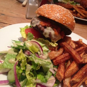 British Food, burger and chips, pub grub