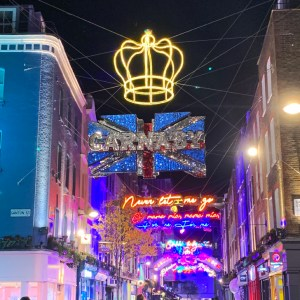 Carnaby street Christmas lights - Travel for a Living