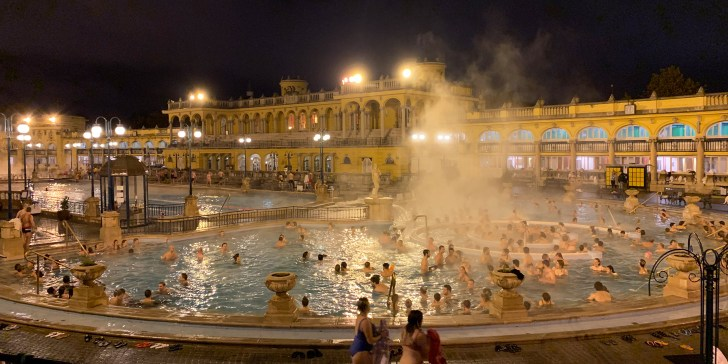 Spending an afternoon at the Szechenyi Baths in Budapest - Travel for a Living