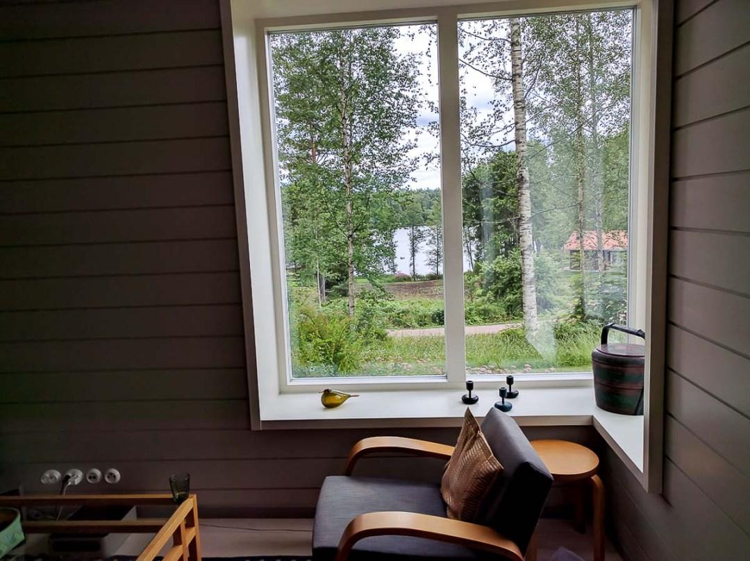 Scandinavian interior decor next to a window