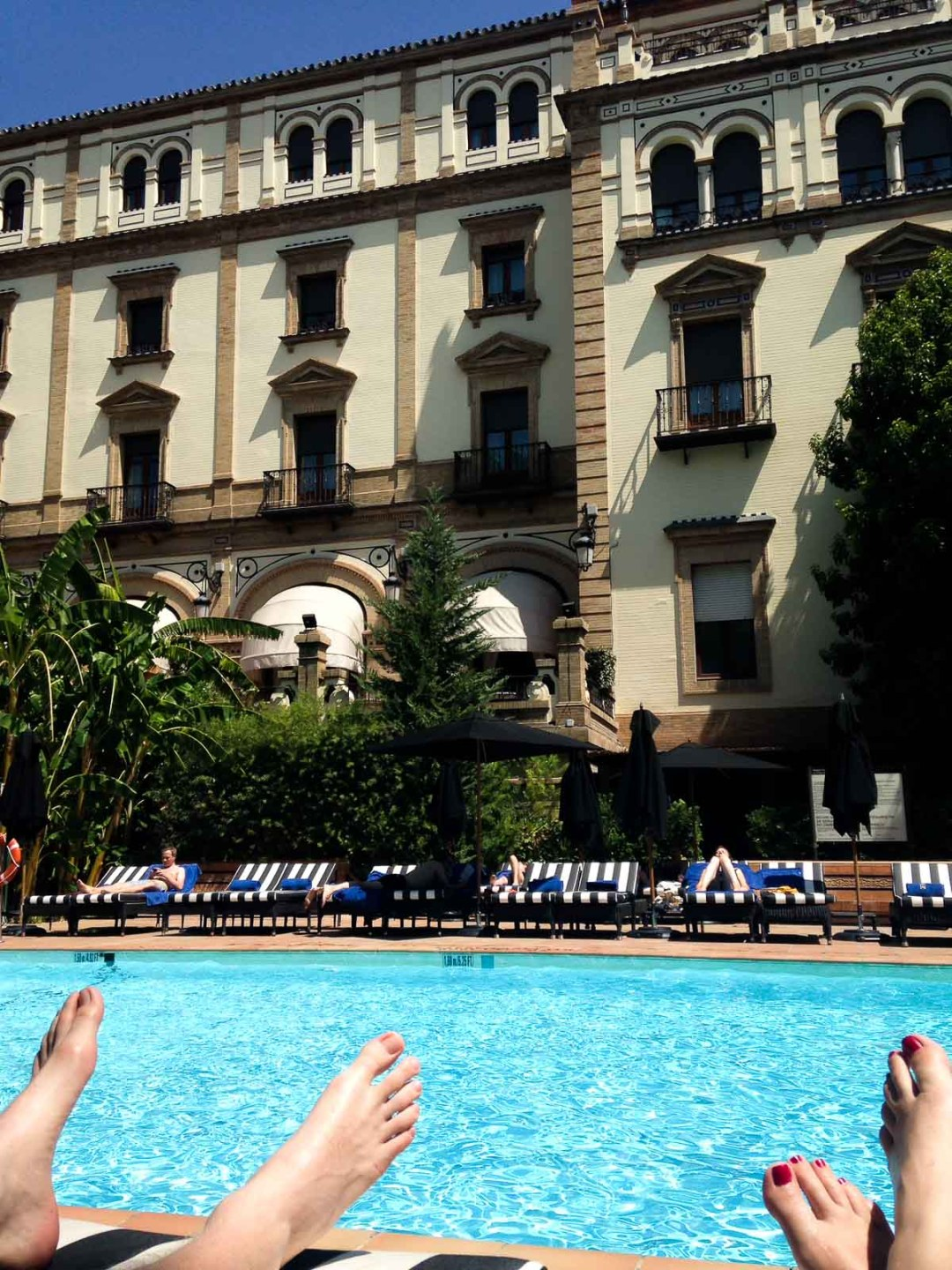 Poolside at Hotel Alfonso XII