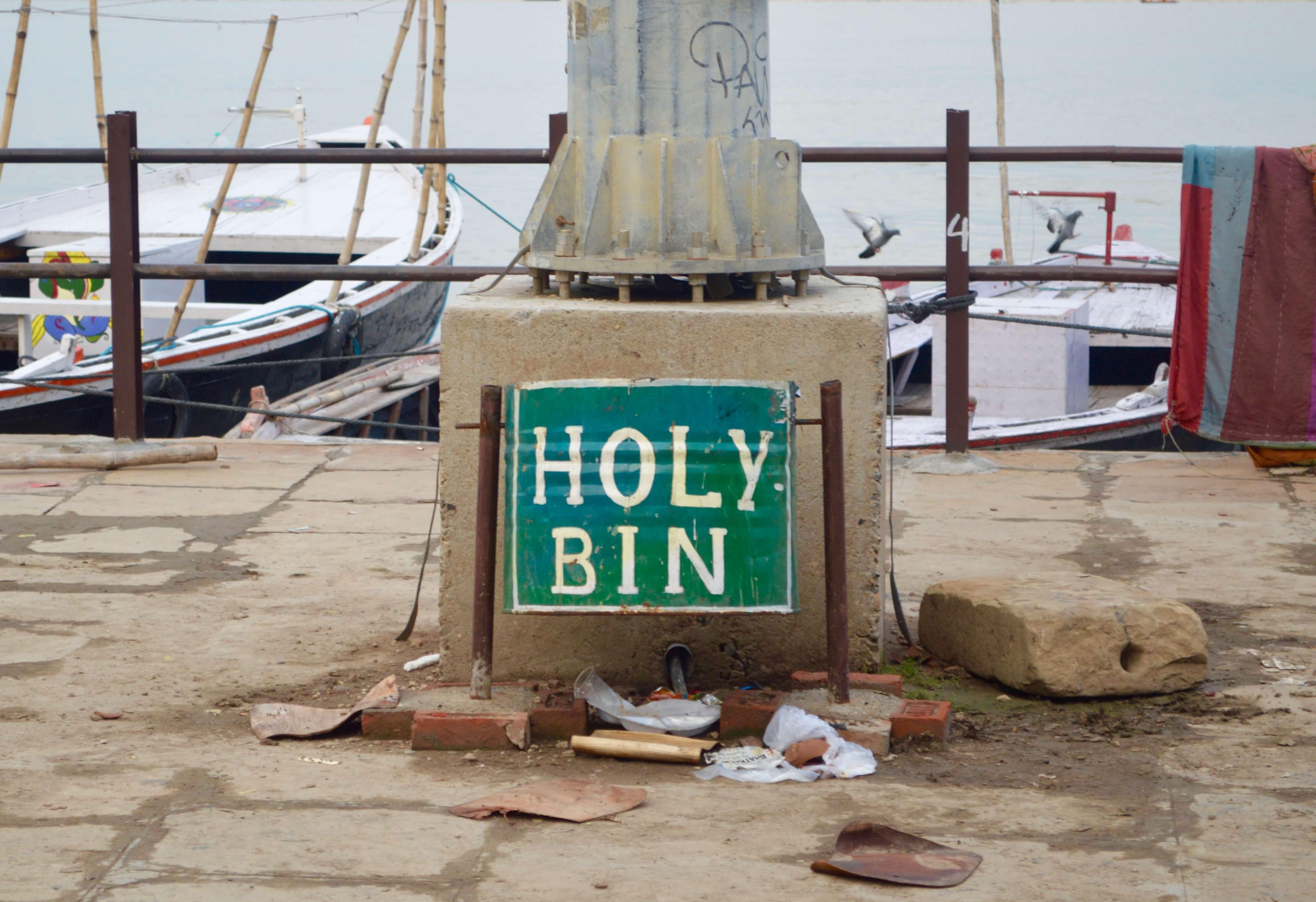 """A """"holy bin"""" in Varanasi"""