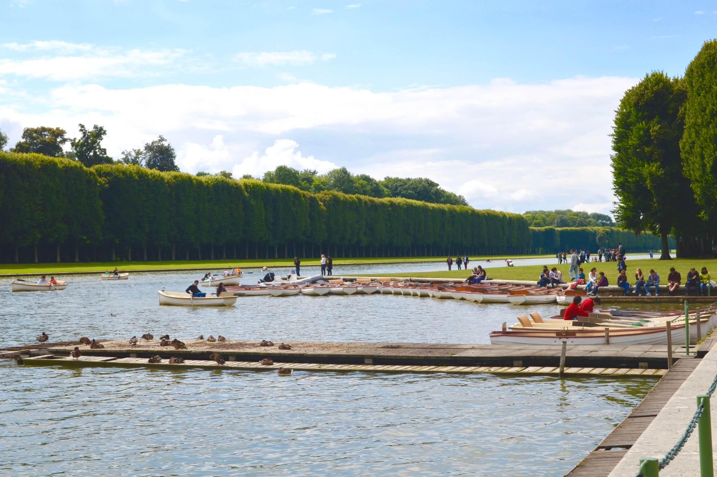Lake at the Palace de Versailles in Paris